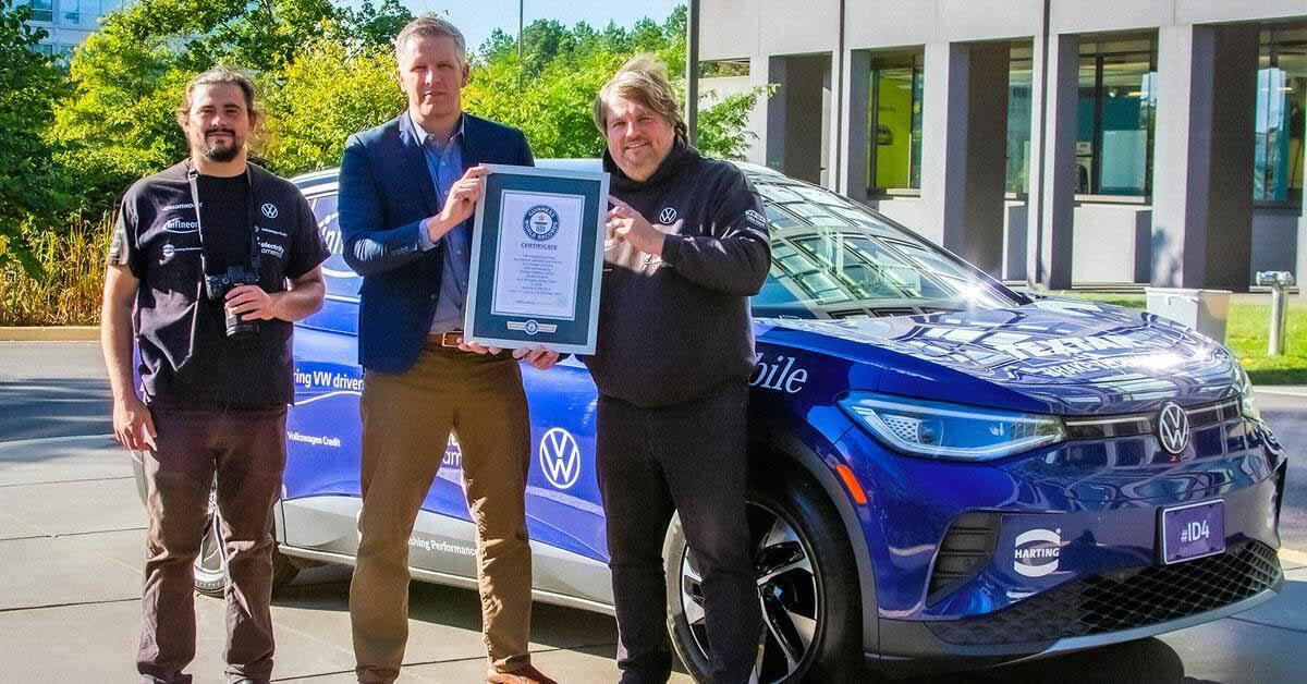 Volkswagen ID.4 установил рекорд Гиннеса по дальним поездкам в пределах одной страны