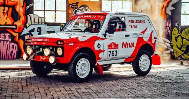 Так выглядит гоночная Lada Niva, подготовленная к Дакару