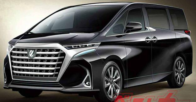 Toyota Alphard следующего поколения: опубликованы первые изображения