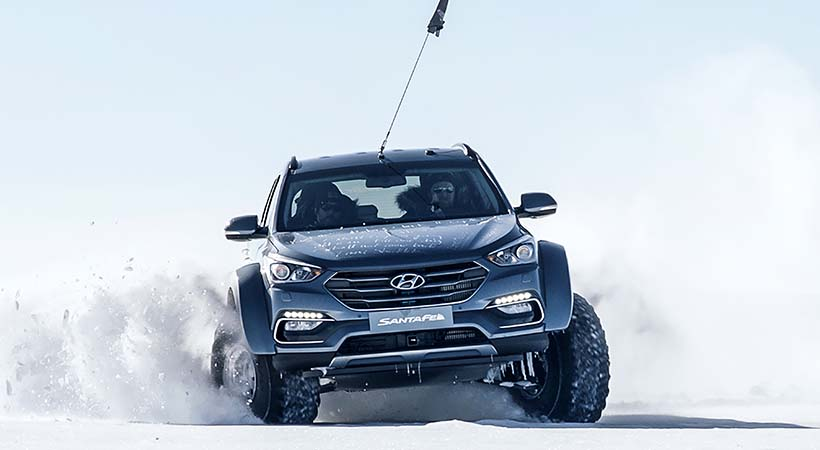 Test Drive extremo; Hyundai Santa Fe conquistó la