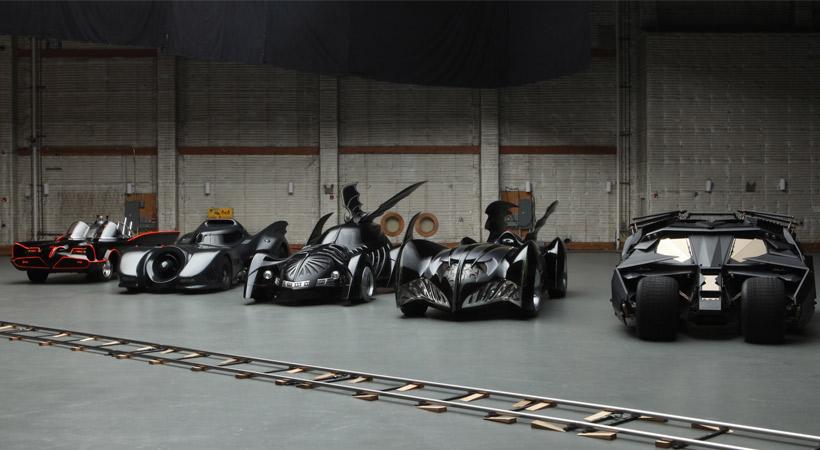 Algunos modelos del Batimóvil