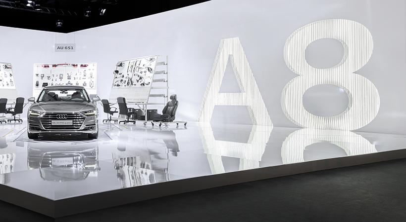 Audi Motherboard y el Audi A8 en Design Miami 2017