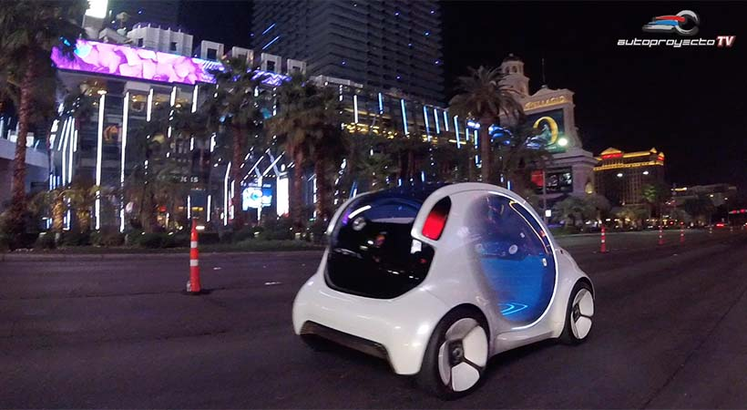 Test Ride smart fortwo vision EQ en el Strip de Las Vegas