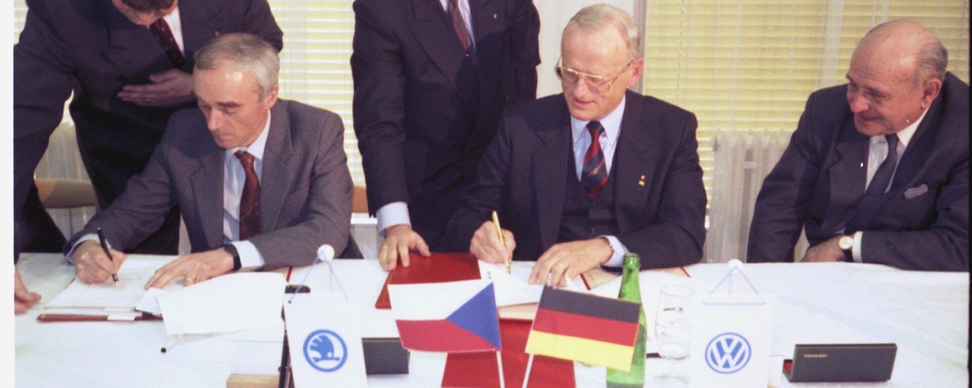 Podpis smlouvy 1991