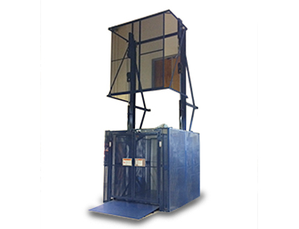 hydraulic straddle freight lift