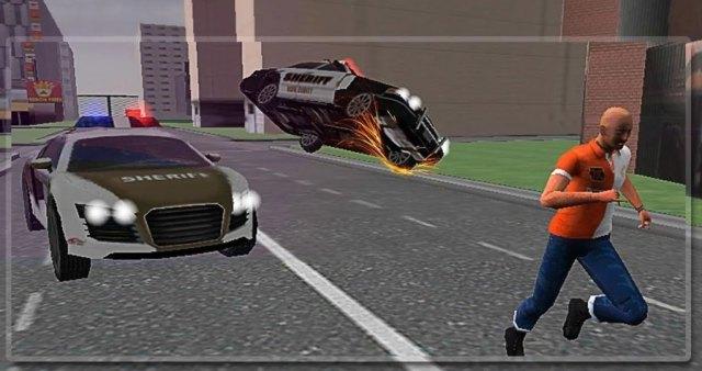Police car crime city