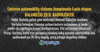 Lietuvos automobilių slalomo čempionato 1 etapo varžybos