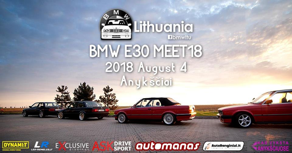 BMW E30 Meet'18 | BMW Lithuania