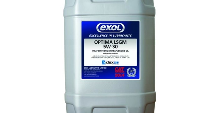 dexos2 approved oil from Exol Lubricants