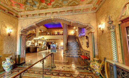 Hallway-that-opens-up-to-the-lobby-at-Tampa-Theatre