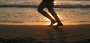 Corriendo en la playa