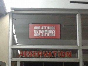 Nuestra actitud determina nuestra altitud