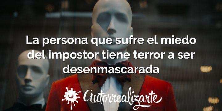 Síndrome del impostor: miedo a ser desenmascarado