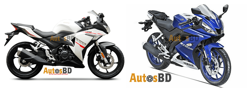 Comparison Loncin GP 150 vs Yamaha YZF-R15 Version 3.0