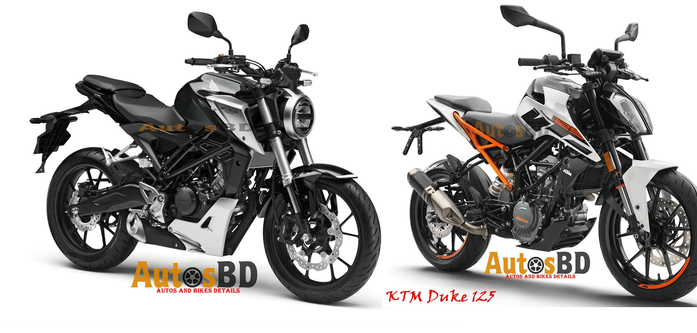 Comparison Honda CB125R VS KTM Duke 125