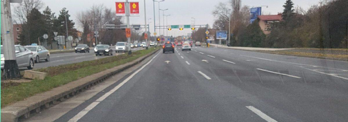 Zaustavni put vozila na raskrižju Autoškola Capitol Hill Zagreb