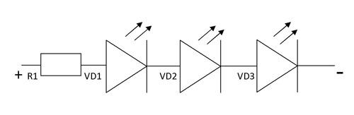 Расчет схемы подключения светодиодов