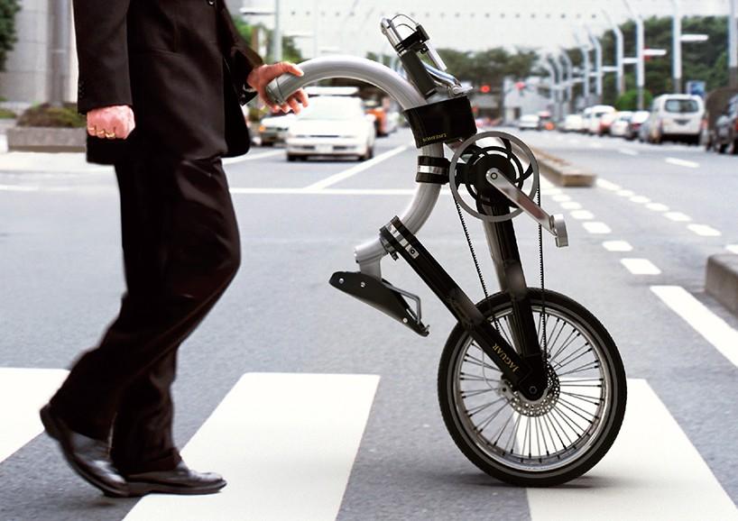 Складной велосипед с круглой рамой