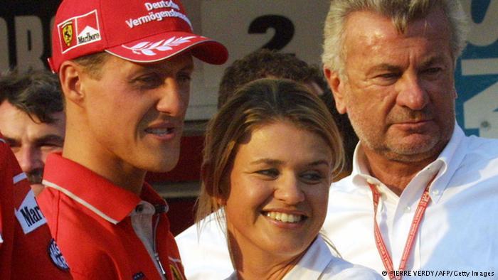 Michael Schumacher Corinna und Manager Weber
