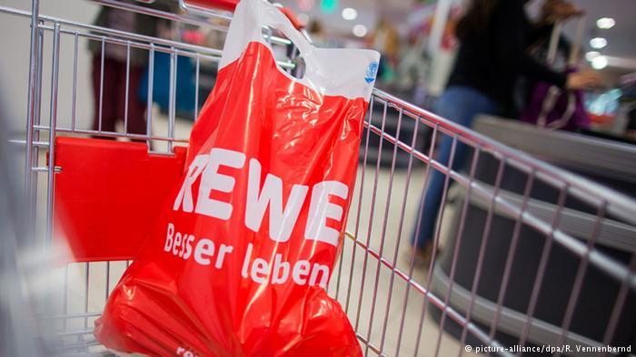 Пластиковый пакет с логотипом Rewe