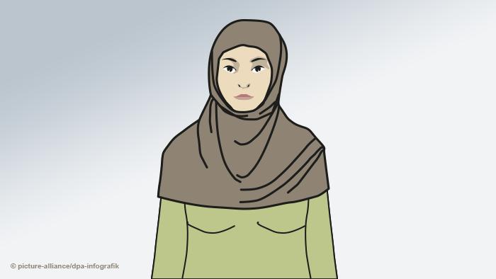 Женщина в хиджабе амире