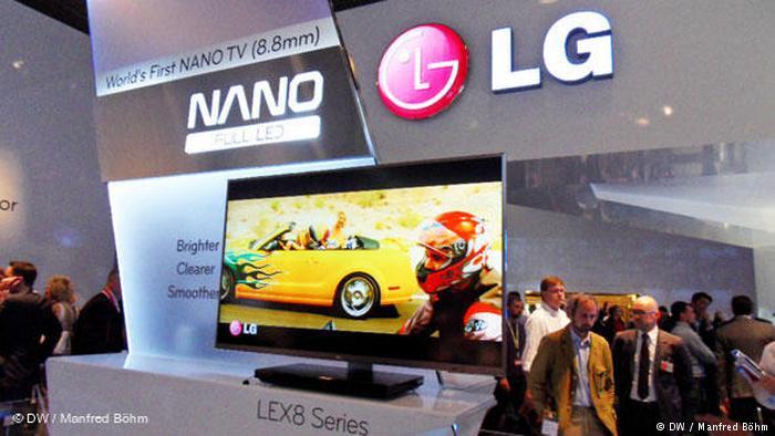 Телевизор LG на выставке