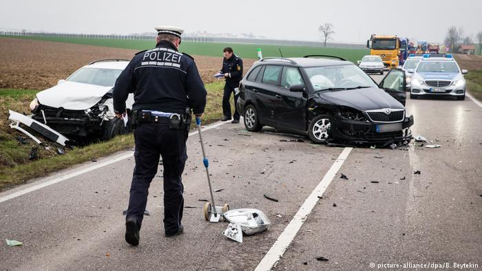 Авария, разбитые машины
