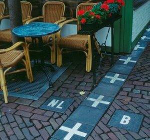 Кафе в Барле-Херток на границы Бельгии и Нидерландов