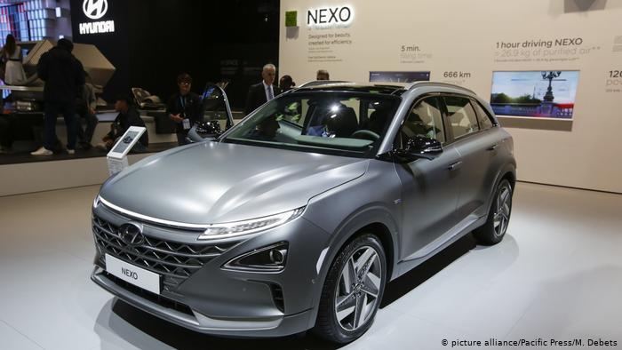 Южнокорейский водородный автомобиль Hyundai Nexo