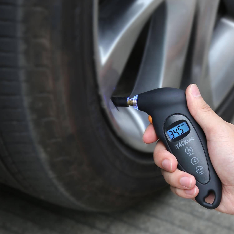 Tacklife-TG01-digital-tire-pressure-gauge Top 9 Best Tire Pressure Gauges Reviews in 2019