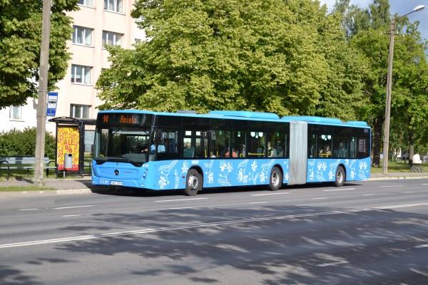 Новый автобус в Пярну.