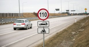 Дорожный знак ограничивающий скорость движения.