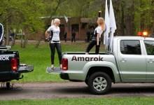 Фото Volkswagen Amarok во время тест-драйва.