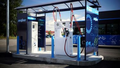 Газовая автозаправка в Пярну.