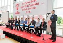 Фото участников соревнования на профмастерство Toyota.