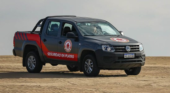 Amarok, pick up oficial de las playas