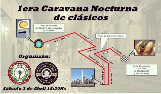 Primera Caravana Nocturna de Clásicos