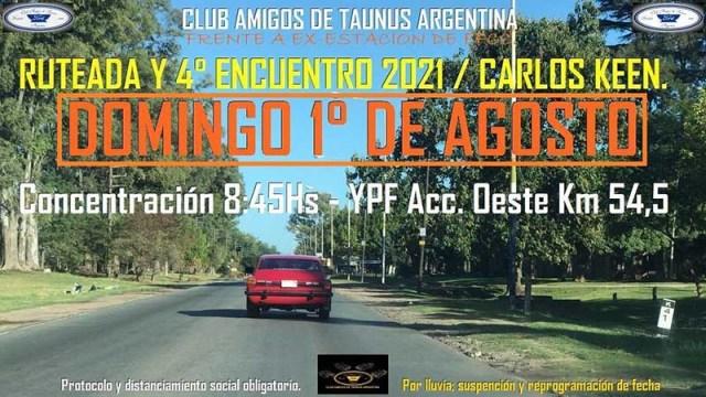 Ruteada a Carlos Keen del Club Amigos de Taunus Argentina