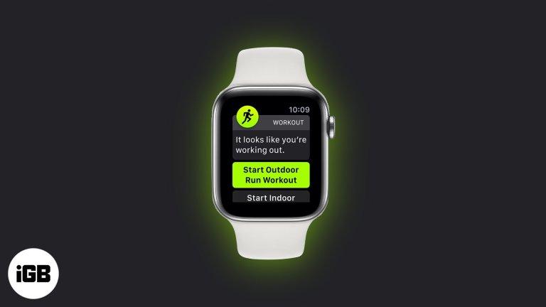 Как использовать автоматическое определение тренировки на Apple Watch