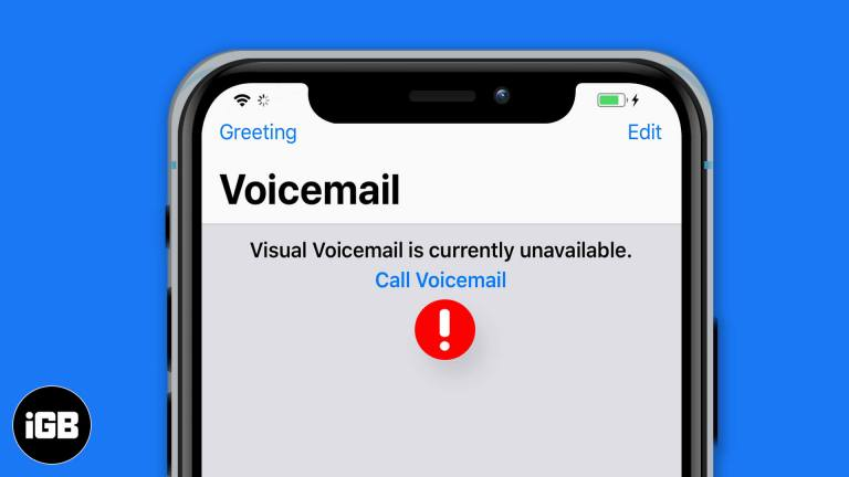 Как исправить ошибку «Визуальная голосовая почта в настоящее время недоступна» на iPhone