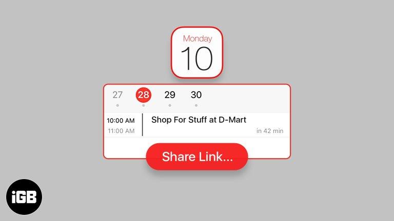 Как поделиться календарными событиями на iPhone и iPad