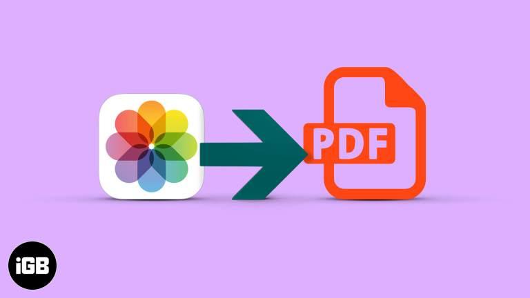 Как конвертировать фото в PDF на iPhone и iPad