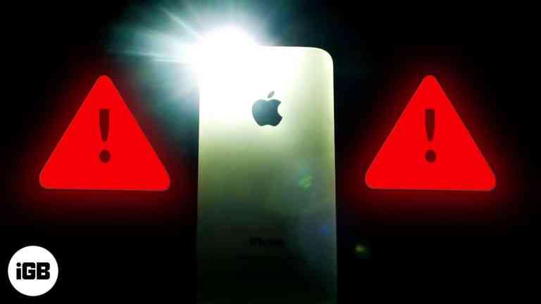 Фонарь iPhone не работает?  5 быстрых исправлений!