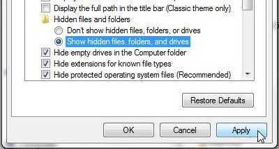 Как найти папку AppData в Windows 7