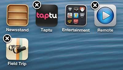 Как удалить приложение на iPhone 5