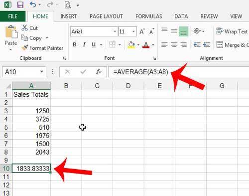 Как найти среднее значение в Excel 2013
