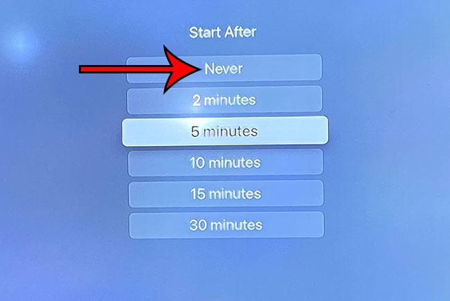Как отключить заставку Apple TV