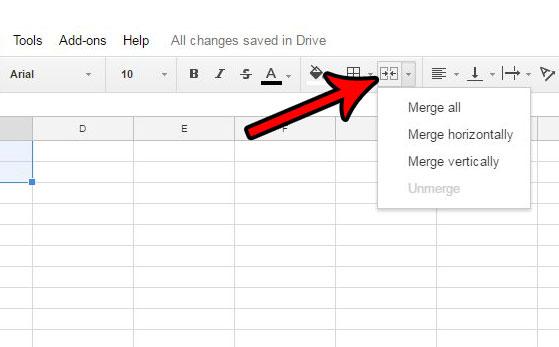 Как объединить ячейки в Google Таблицах