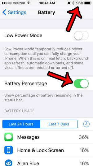 Как отобразить процент заряда батареи на iPhone 5