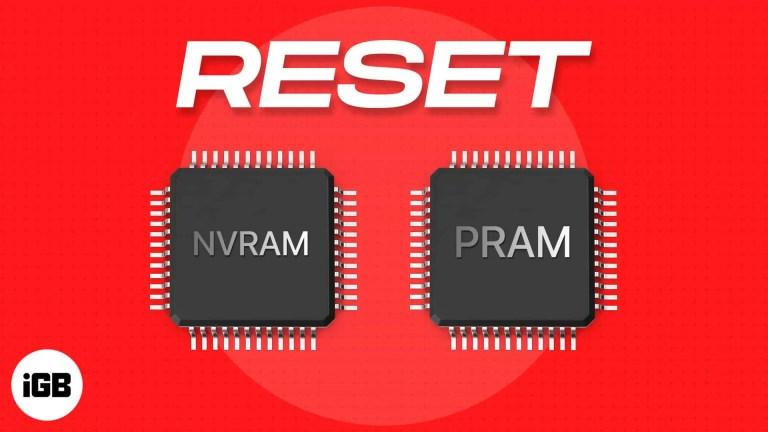 Как сбросить NVRAM или PRAM на Mac